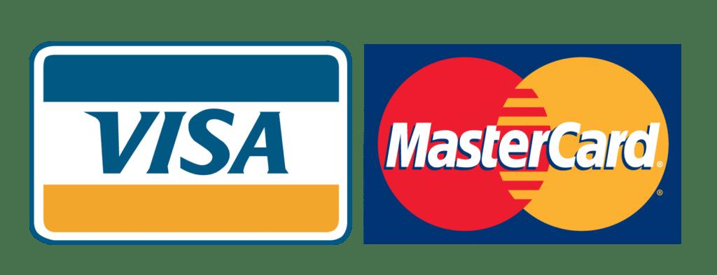 pagos con VISA y MASTERCARD
